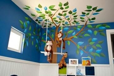 ציורי קיר לסלון ולחדרי שינה